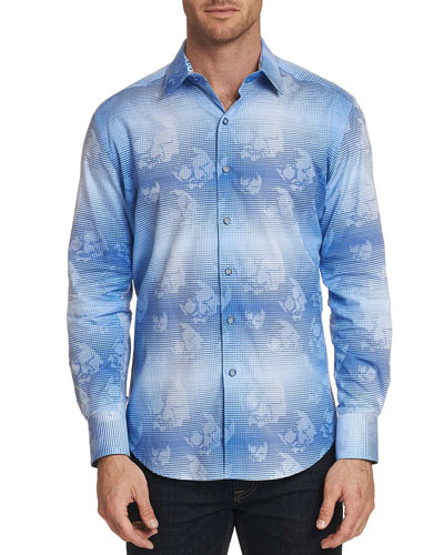 Men's Kings Valley Floral-Print Sport Shirt