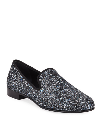Men's Kevin Glittered Slip-On Evening Shoes