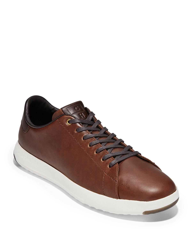 Cole Haan Sneakers MEN'S GRANDPRO LEATHER TENNIS SNEAKERS