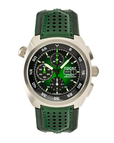 Men's 45mm Air Defender Chronograph Watch, Green