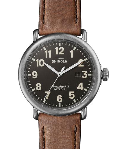 Men's 47mm Runwell Watch, Tan
