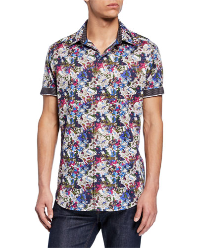 Men's Alberdeen Classic-Fit Graphic Short-Sleeve Sport Shirt