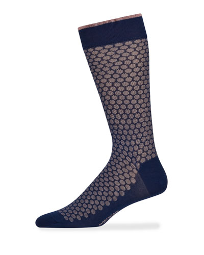 Men's Jacquard Dot Cotton Socks