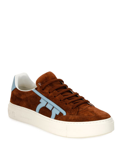 Men's Borg 2 Suede/Leather Gancio Sneakers