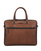 Salvatore Ferragamo Men's Revival Textured Leather Briefcase