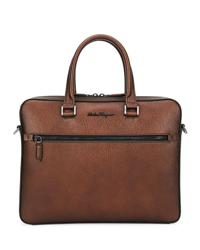 Men's Revival Textured Leather Briefcase