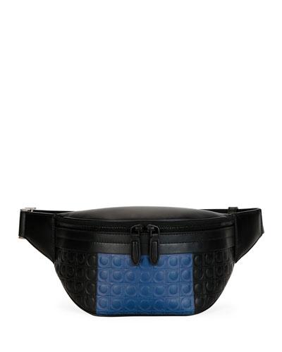 Men's Firenze Gamma Two-Tone Gancini Belt Bag