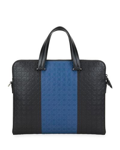 Men's Firenze Gamma Two-Tone Gancini Briefcase
