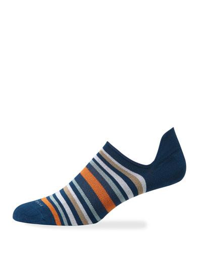 Men's Portofino Stripe No-Show Socks
