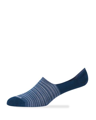 Men's Multi-stripe No-Show Socks