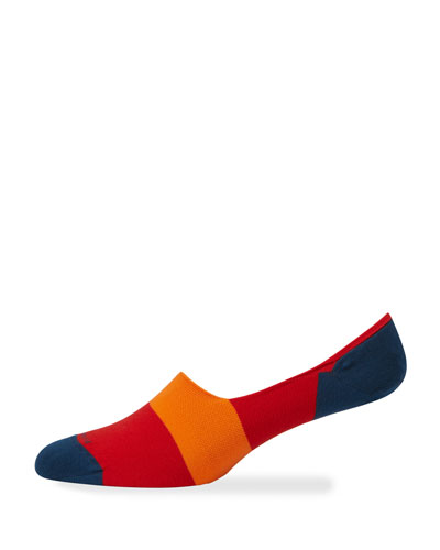 Men's Multicolor No-Show Socks