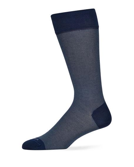Marcoliani Men's Birdseye Cotton Socks