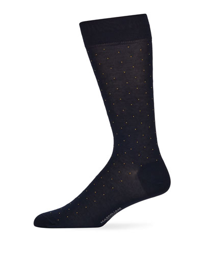 Men's Dot-Pattern Cotton Socks