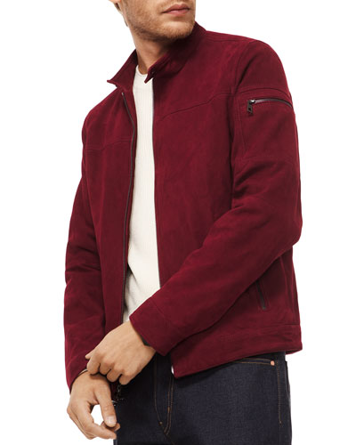 c2f1421308fc Quick Look. Michael Kors · Men s Perforated Leather Racer Jacket