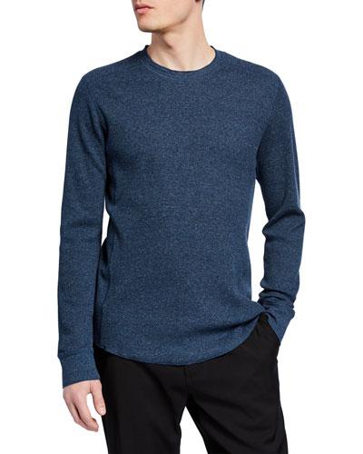 Men's Waffle Long-Sleeve Pullover T-Shirt