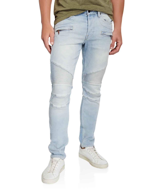 Hudson Jeans Men's The Blinder Distressed Biker Jeans