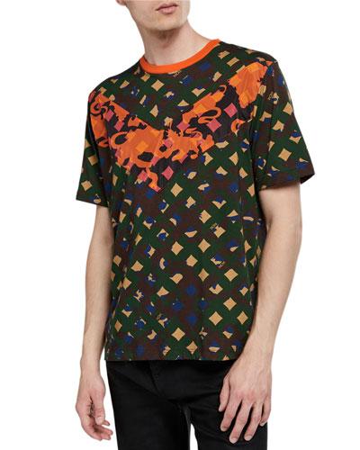 Men's Camo Chevron-V T-Shirt