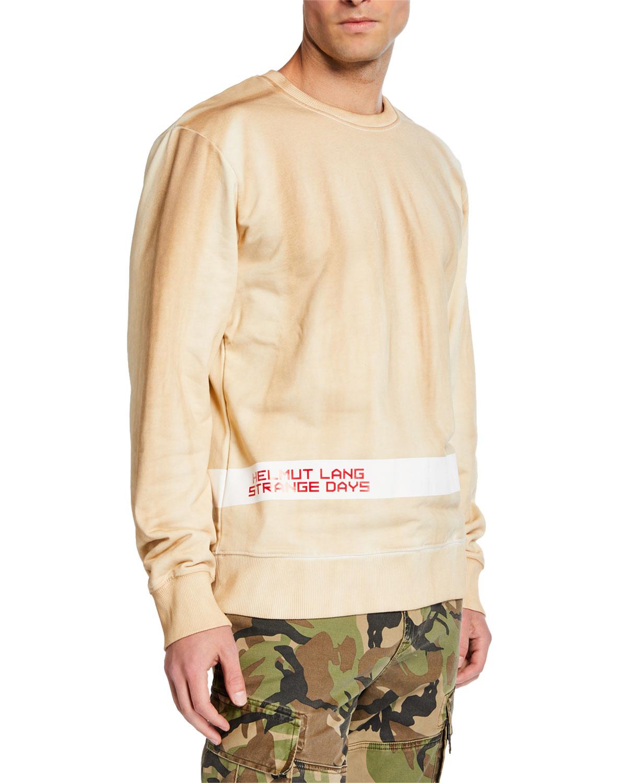 Helmut Lang T-shirts MEN'S STRANGE DAY LOGO STRIPE SWEATSHIRT