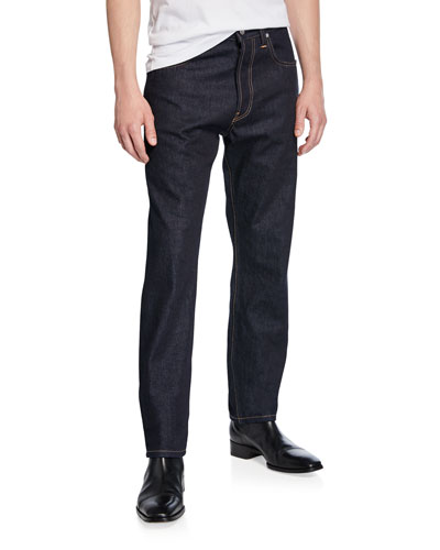 Men's Accelerated Raw Masc High-Rise Straight-Leg Jeans