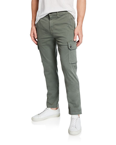 Men's Solid Twill Cargo Pants