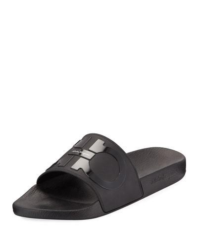 23f73bf50b1 Quick Look. Salvatore Ferragamo · Men s Groove 2 Rubber Slide Sandals.  Available in Black