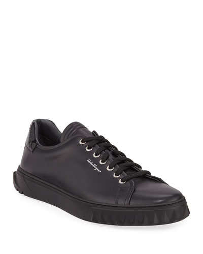Men's Cube Low-Top Leather Sneakers