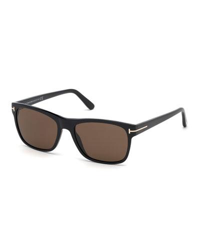 Men's Guilio Square Acetate Sunglasses
