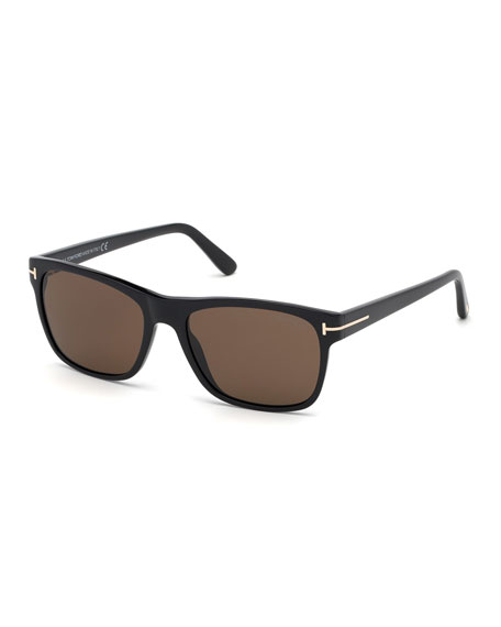TOM FORD Men's Guilio Square Acetate Sunglasses