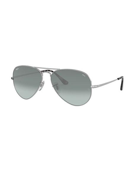 Ray-Ban Men's Evolve Polarized Gradient Metal Aviator Sunglasses