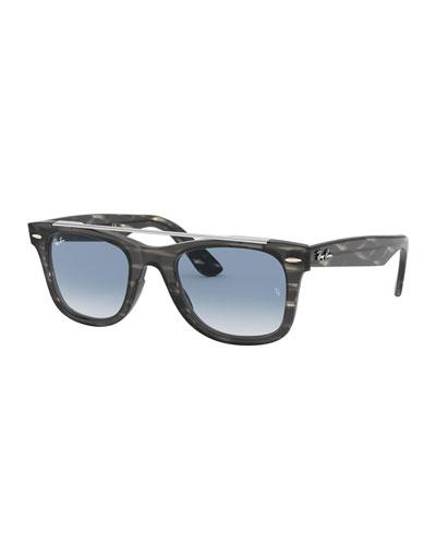 Men's RB4540 Wayfarer Double-Bridge Sunglasses - Gradient
