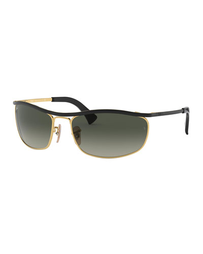 Men's Olympian Metal Sunglasses with Wraparound Bar - Gradient