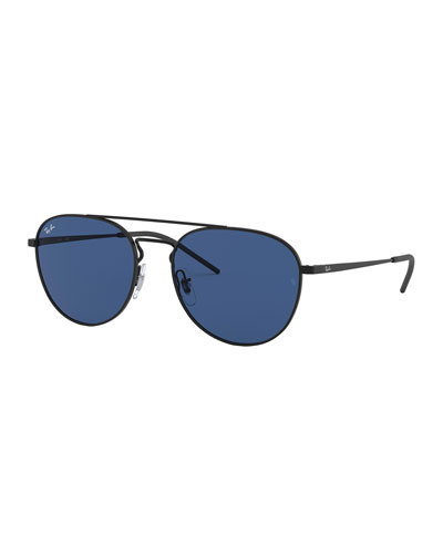 Men's Solid Metal Aviator Sunglasses