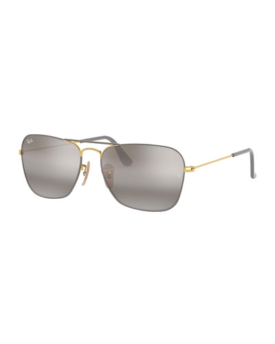 Men's Caravan Square Aviator Sunglasses
