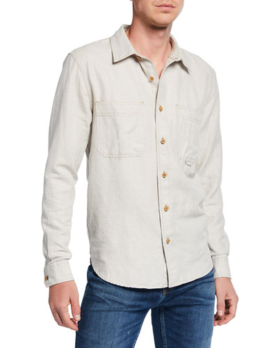 Men's Triple Needlework Pocket Work Shirt