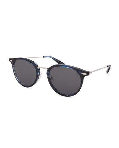 Men's Cambridge Metal-Trim Plastic Sunglasses