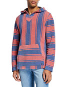 Faherty Men's Baja Striped Terry Poncho Sweater