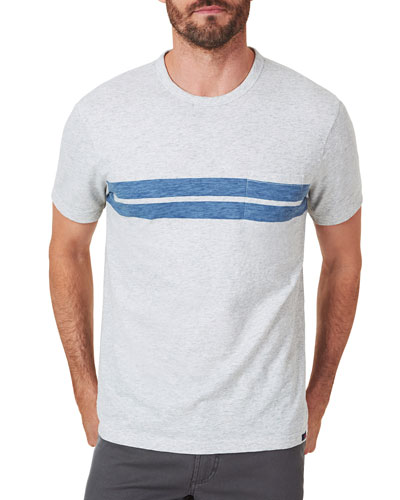 Men's Twin Stripe Pocket T-Shirt