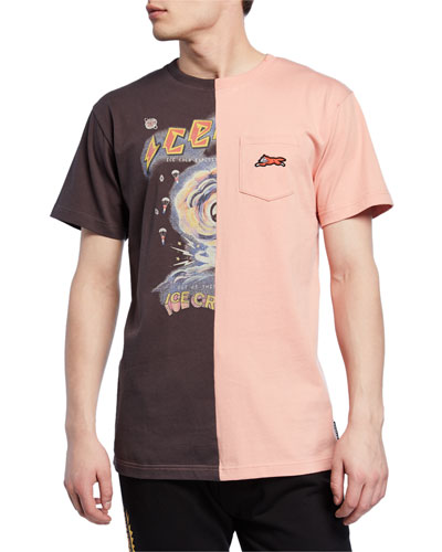 Men's Wrapper Graphic Split Pocket T-Shirt