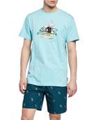 Icecream Men's Advertising Short-Sleeve Graphic T-Shirt