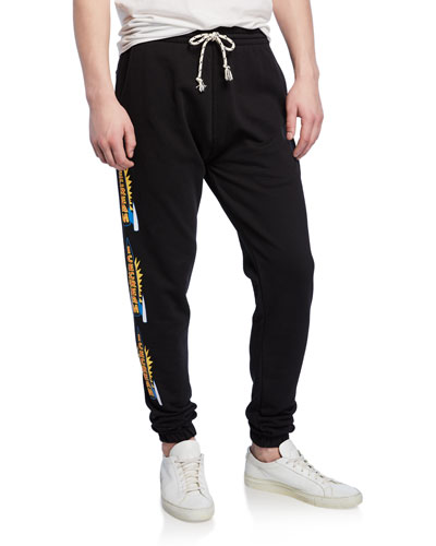 Men's Cherry Graphic Side-Stripe Sweatpants