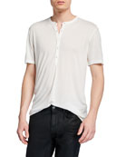 John Varvatos Star USA Men's Clifton Short-Sleeve Henley