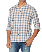 John Varvatos Star USA Men's Neil Reversible Plaid