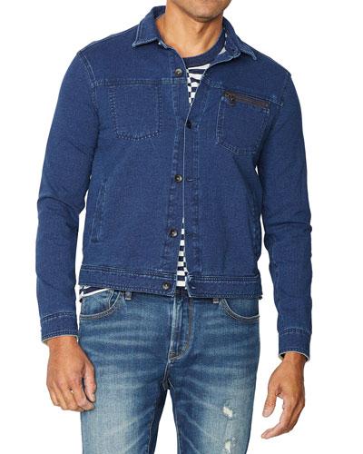 Men's Redrock Acid-Wash Stretch-Cotton Sweatshirt Jacket
