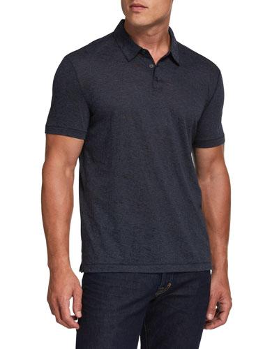 Men's Burnout Stripe Polo Shirt