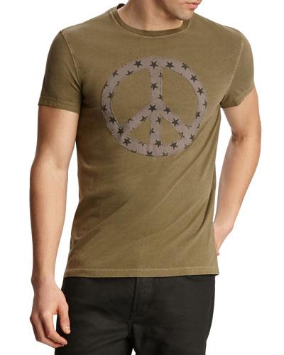 Men's Star Peace Sign Short-Sleeve Graphic T-Shirt