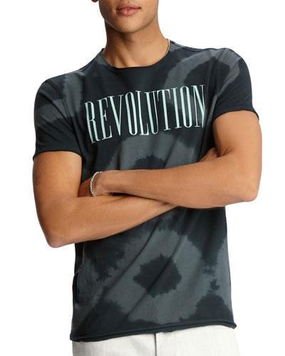 Men's Tie-Dye Revolution Short-Sleeve Crewneck T-Shirt