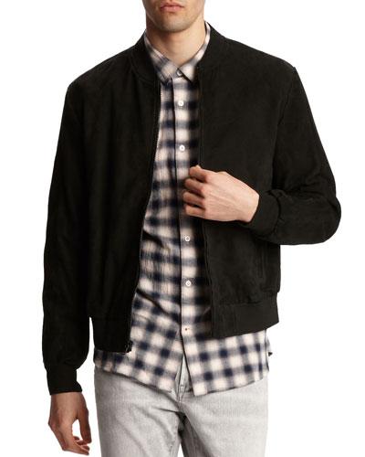 Men's Noel Suede Bomber Jacket