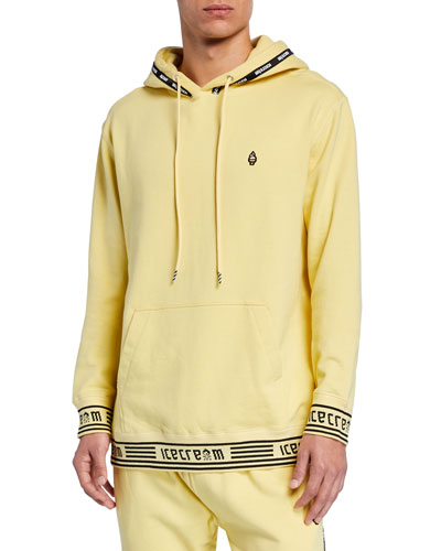 Men's Milk Ice Logo-Trim Pullover Hoodie