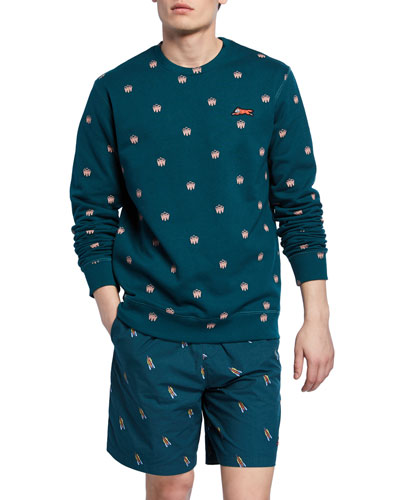Men's Polka-Dot Crewneck Sweatshirt