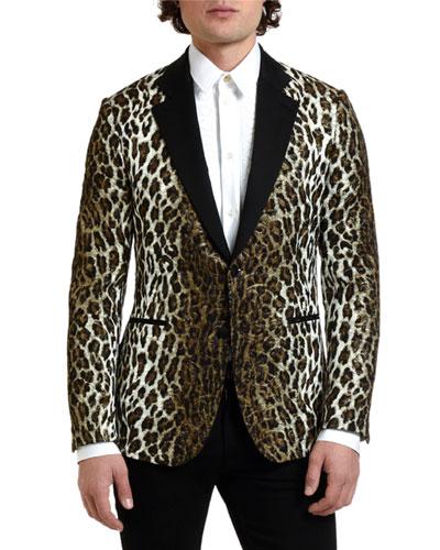 d038b59d1a7 Quick Look. Versace · Men s Leopard-Print Evening Jacket